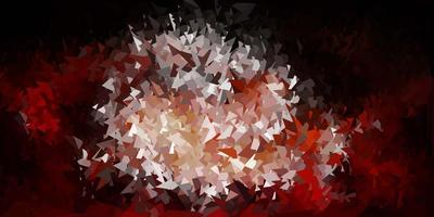 dunkelrosa Vektordreieck-Mosaikschablone. vektor