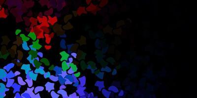 dunkler mehrfarbiger Vektorhintergrund mit chaotischen Formen.