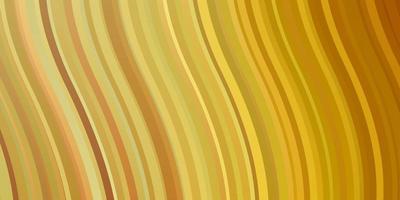 ljus orange vektor bakgrund med kurvor.
