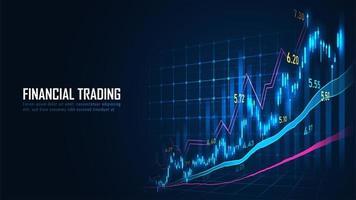 Grafik für den Börsen- oder Devisenhandel vektor