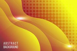 gul tonad flytande tapet vektor