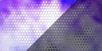 hellviolette Vektorschablone mit Kreisen.