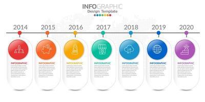 infographics för affärsidé med ikoner och alternativ eller steg.