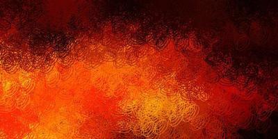 mörk orange vektor mönster med sfärer