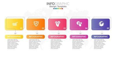 digitales Online-Marketing-Banner mit Symbolen für Geschäftsinhalte. vektor