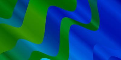 ljusblått, grönt vektormönster med kurvor.