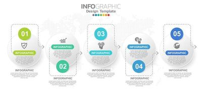 digital online marknadsföringsbanner med ikoner för affärsinnehåll.