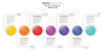 Infografiken für das Geschäftskonzept mit Symbolen und Optionen oder Schritten.