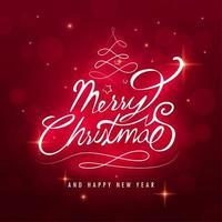 Frohe Weihnachten Text vektor