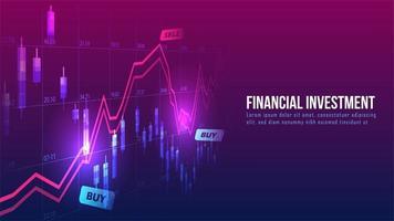 Grafik für den Börsen- oder Devisenhandel