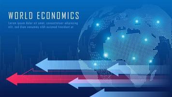 globalt ekonomiskt i grafiskt koncept