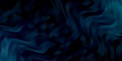 mörkblå vektorlayout med kurvor.