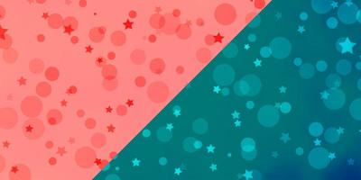 Vektorlayout mit Kreisen, Sternen. vektor