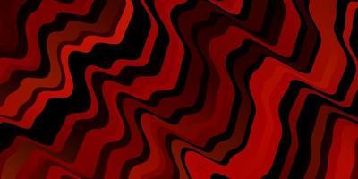 dunkelorange Vektormuster mit gekrümmten Linien.