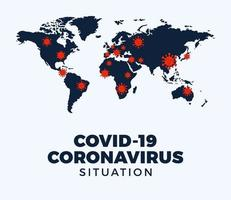 Coronavirus-Covid-19-Karte bestätigte Fälle, die weltweit gemeldet wurden vektor