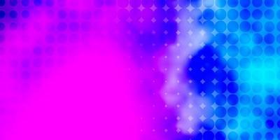 ljusrosa, blå vektormönster med cirklar.