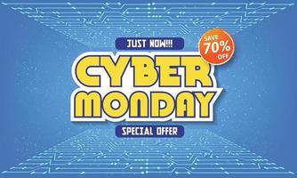 modern cyber måndag banner med platt design