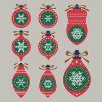 uppsättning julgranskulor dekorationer