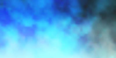 mörkblå vektorlayout med molnlandskap.