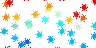 ljusblå, röd vektormall med influensatecken
