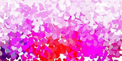 ljuslila, rosa vektorbakgrund med kaotiska former. vektor