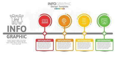 digitales Online-Marketing-Banner mit Symbolen für Geschäftsinhalte.