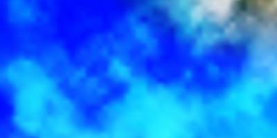 hellblauer Vektorhintergrund mit Cumulus.