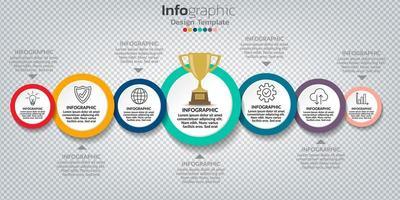 Infografik im Geschäftskonzept mit 8 Optionen, Schritten oder Prozessen.