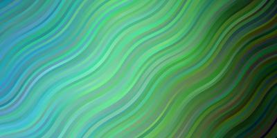 hellblaue, grüne Vektorschablone mit Linien. vektor