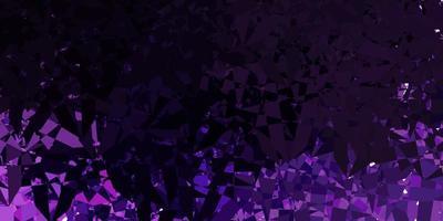 mörk lila vektor layout med triangel former.