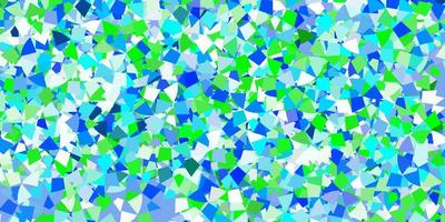 hellblaue Vektorbeschaffenheit mit dreieckigem Stil. vektor