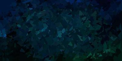 mörkblå, grön vektor månghörnigt bakgrund.