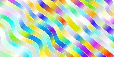 Licht mehrfarbiges Vektormuster mit schiefen Linien.