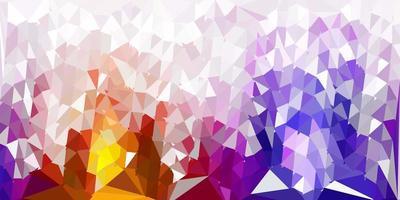abstrakter Dreieckhintergrund des dunklen rosa, gelben Vektors. vektor
