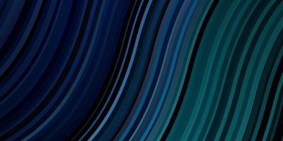 dunkelblaues, grünes Vektorlayout mit schiefen Linien. vektor