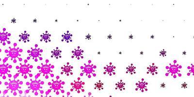 hellviolette, rosa Vektorschablone mit Grippezeichen