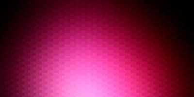 mörkrosa vektorlayout med linjer, rektanglar.