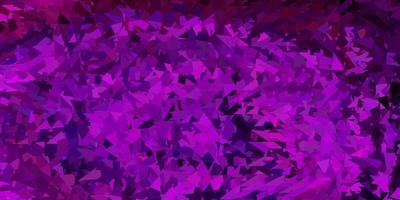 mörkrosa vektor triangel mosaik mall.