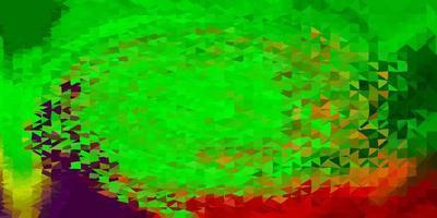 ljusgrön, röd vektor abstrakt triangel bakgrund.