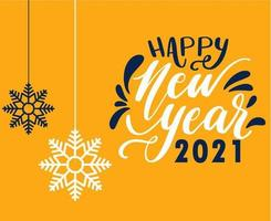 2021 frohes neues Jahr Design vektor