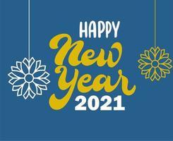 2021 Frohes Neues Jahr Zusammenfassung vektor