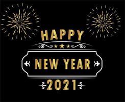 abstraktes frohes neues Jahr 2021 vektor