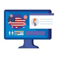 onlinemedicin för förebyggande av covid-19 i USA vektor