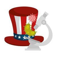 USA top hat och coronavirus förebyggande kampanj