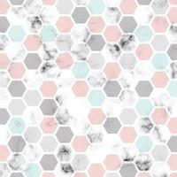 vektor marmor textur design med bikakemönster bakgrund