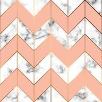 vektor marmor konsistens, sömlös mönster design med gyllene geometriska linjer, svart och vit marmor yta, modern lyxig bakgrund