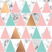 nahtloses Musterdesign mit goldenen geometrischen Linien und Dreiecken vektor