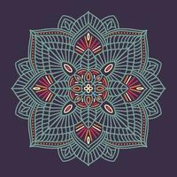 färgglad dekorativ blommig etnisk mandala