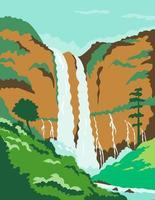 tvilling vattenfall i Filippinerna affischkonst