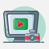 videograf koncept symbol illustration i platt stil vektor